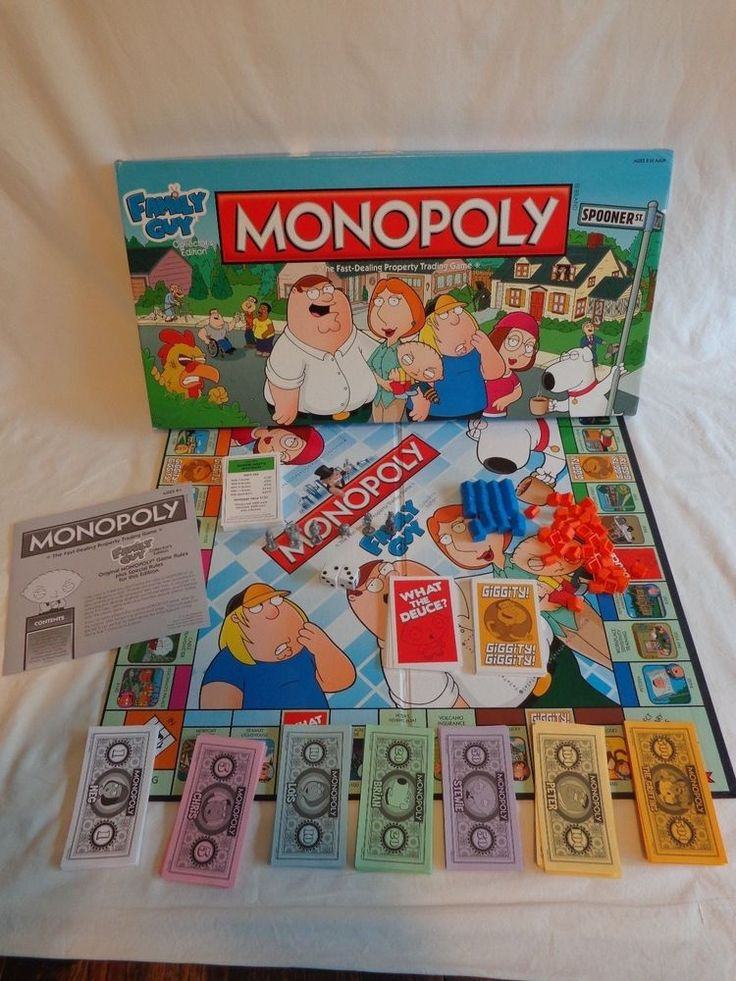 family guy monopoly instructions